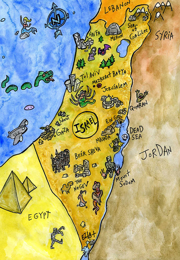 Israel Archives Oy Vegan – Israel Tourist Map